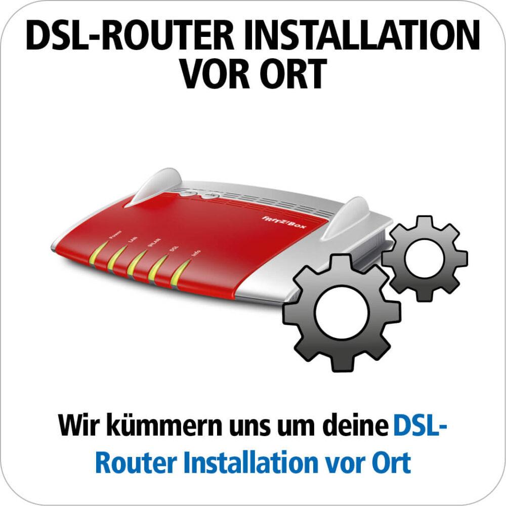 DSL Router Installation vor Ort